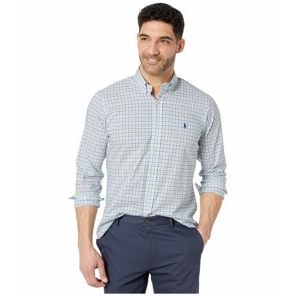 ラルフローレン メンズ シャツ トップス Classic Fit Poplin Shirt Blue/Green Multi