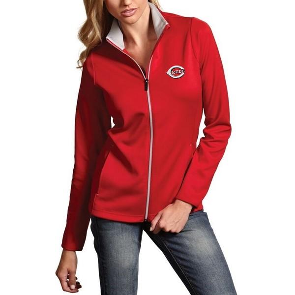 アンティグア レディース ジャケット&ブルゾン アウター Cincinnati Reds Antigua Women's Leader Full-Zip Jacket Red