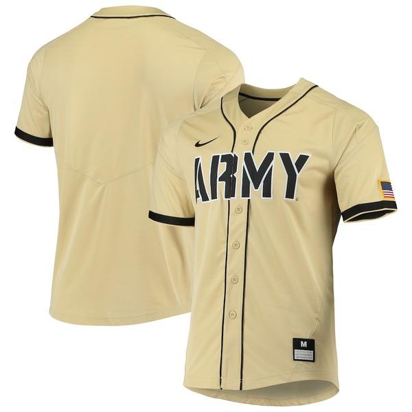 ナイキ メンズ シャツ トップス Army Black Knights Nike Vapor Untouchable Elite Replica Full-Button Baseball Jersey Gold