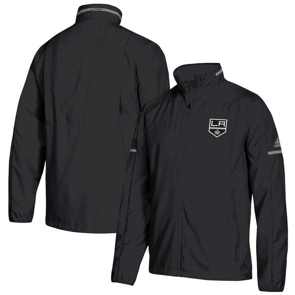 アディダス メンズ ジャケット&ブルゾン アウター Los Angeles Kings adidas Rink Full-Zip Jacket Black