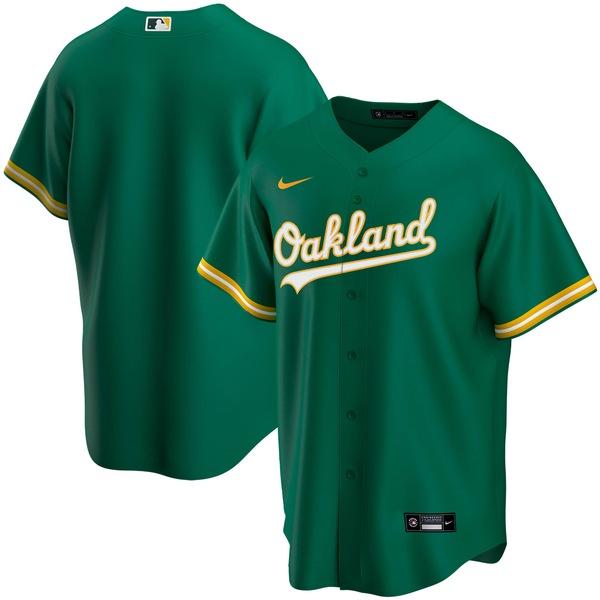 ナイキ メンズ ユニフォーム トップス Oakland Athletics Nike Home 2020 Replica Team Jersey White