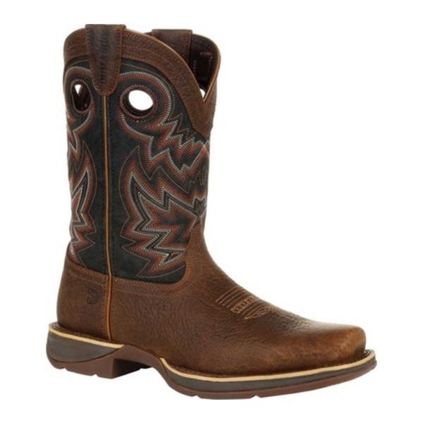 ヂュランゴ メンズ ブーツ&レインブーツ シューズ DDB0270 Rebel Western Boot Chocolate/Black Eclipse Full Grain Leather/Faux