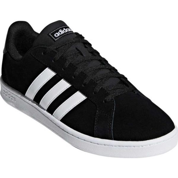 アディダス メンズ スニーカー シューズ Grand Court Sneaker Core Black/FTWR White/FTWR White Suede