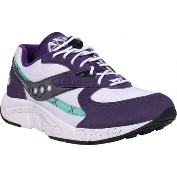 サッカニー メンズ スニーカー シューズ Aya Running Sneaker Violet/Indigo/White Nylon/Suede