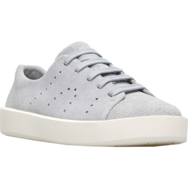 カンペール メンズ スニーカー シューズ Courb Low Top Sneaker Light Pastel Grey Nubuck