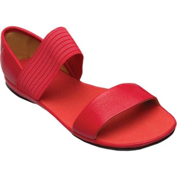 カンペール レディース スニーカー シューズ Right Nina Sandal Medium Red Full Grain Leather