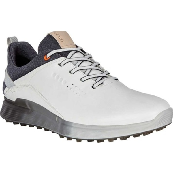 エコー メンズ スニーカー シューズ S-Three GORE-TEX Golf Sneaker White Nappa Leather