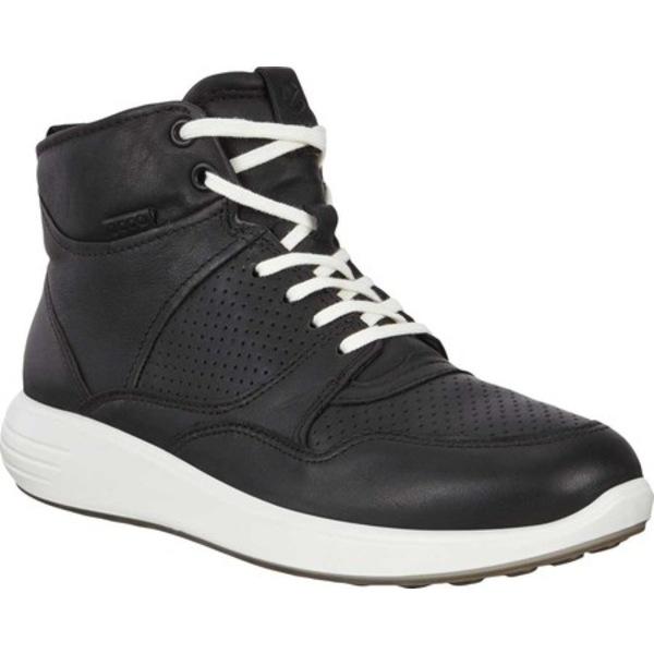 エコー レディース スニーカー シューズ Soft 7 Runner Fashion High Top Sneaker Black Full Grain Leather