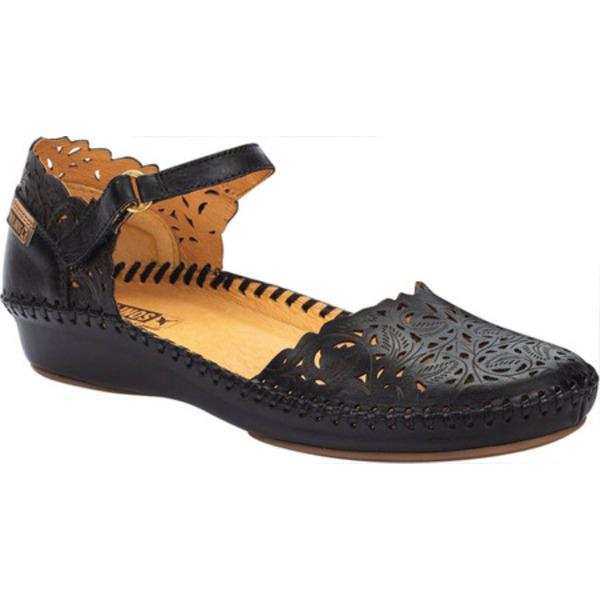 ピコリーノス レディース サンダル シューズ Puerto Vallarta Closed Toe Sandal 655-0906 Black Calfskin