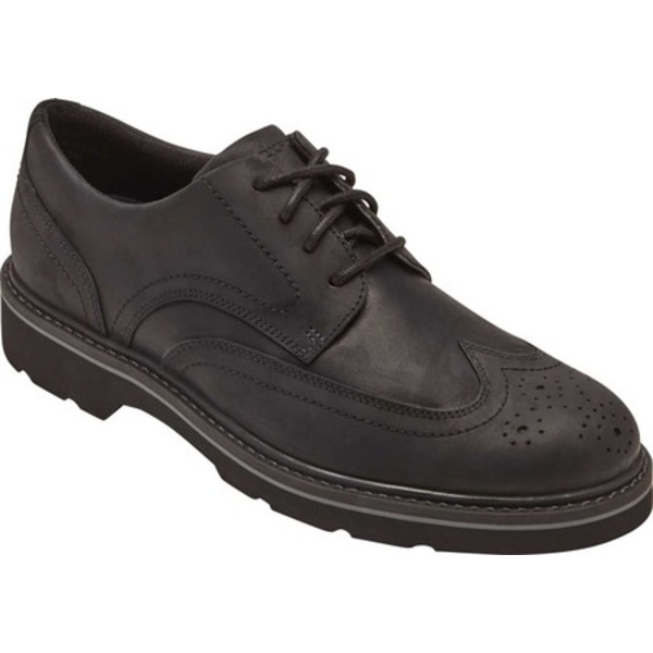 ロックポート メンズ ドレスシューズ シューズ Charlee Wingtip Oxford Black Leather