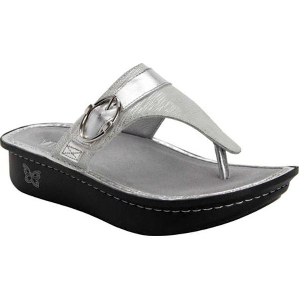 アレグリア レディース サンダル シューズ Codi Thong Sandal White Sheen Leather