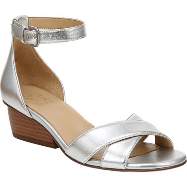 ナチュライザー レディース サンダル シューズ Caine Ankle Strap Sandal Silver Metallic Leather