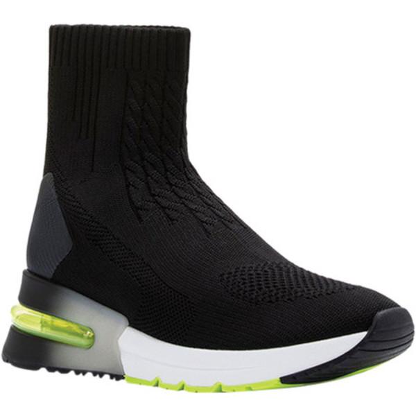 アッシュ レディース スニーカー シューズ Kute Pull On Sneaker Black/Shiny Black Knit/TPU