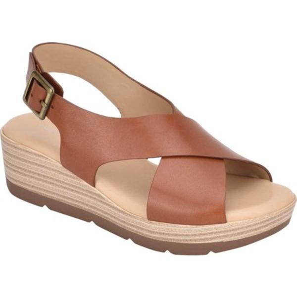 イージースピリット レディース サンダル シューズ Kamila Wedge Slingback Sandal Medium Brown Leather