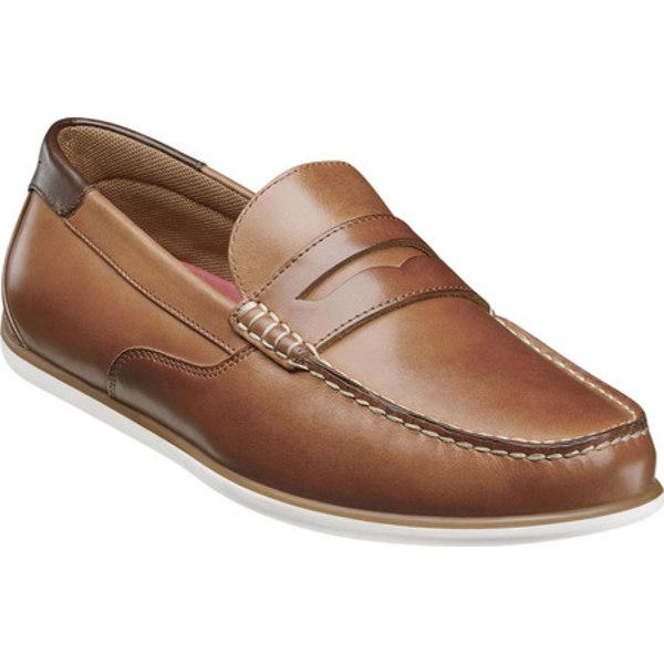 フローシャイム メンズ スリッポン・ローファー シューズ Sportster Moc Toe Driver Penny Loafer Cognac Smooth Leather