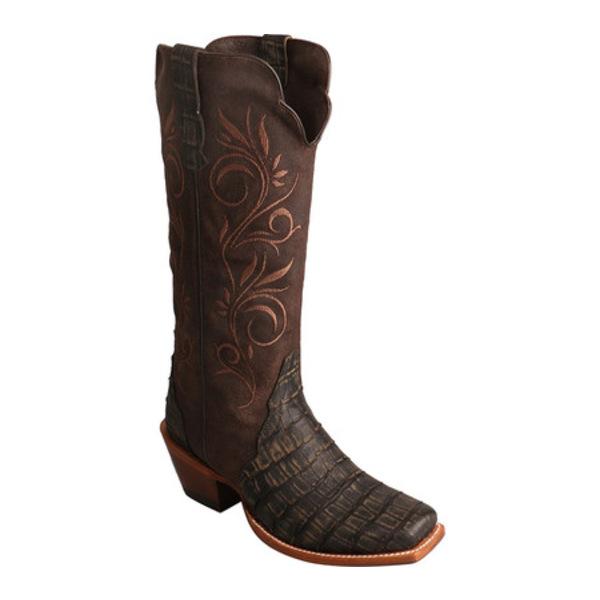 ツイステッド エックス レディース ブーツ&レインブーツ シューズ WRAL005 Rancher Cowgirl Boot Croco Negro/Congo Dark Chocolate Leather