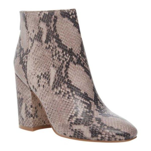 スティーブ マデン レディース ブーツ&レインブーツ シューズ Scale Ankle Boot Taupe Snake Synthetic Leather