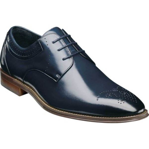 ステイシーアダムス メンズ ドレスシューズ シューズ Batlin Perf Toe Oxford Ink Blue Leather