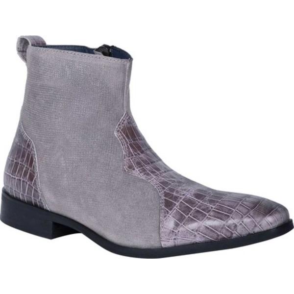 ディンゴ メンズ ドレスシューズ シューズ Dunn Ankle Boot DI 222 Grey Leather
