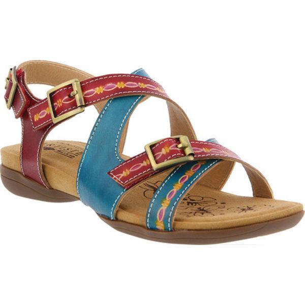 スプリングステップ レディース サンダル シューズ Lilliana Strappy Sandal Turquoise Multi Leather
