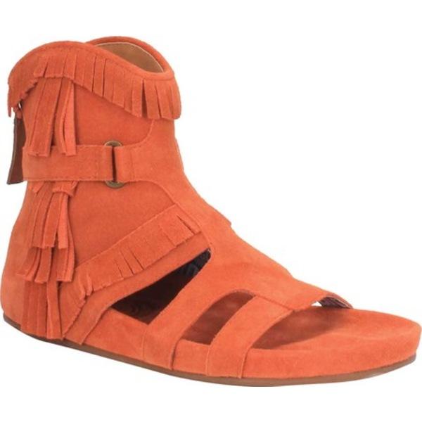 ディンゴ レディース サンダル シューズ Sunny Day Fringe Sandal DI 138 Rust Leather