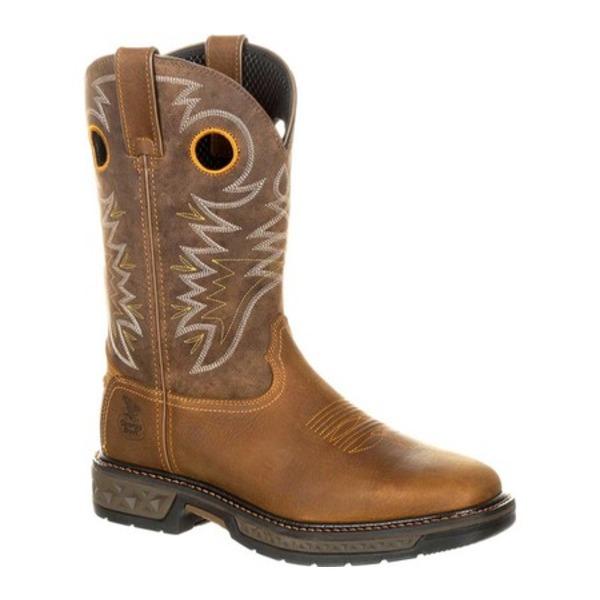 ジョージブーツ メンズ ブーツ&レインブーツ シューズ GB00223 Carbo-Tec Pull-on Work Boot Brown Full Grain Leather