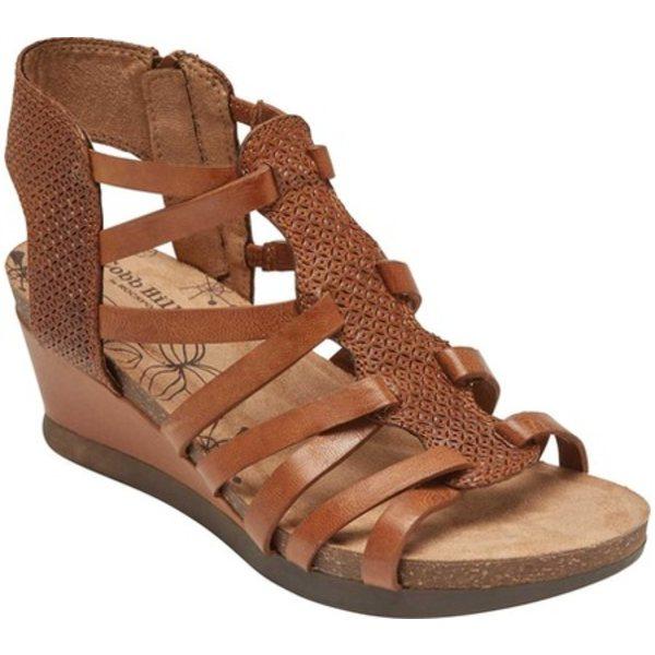 ロックポート レディース オックスフォード シューズ Cobb Hill Shona Wedge Gladiator Sandal Tan Leather
