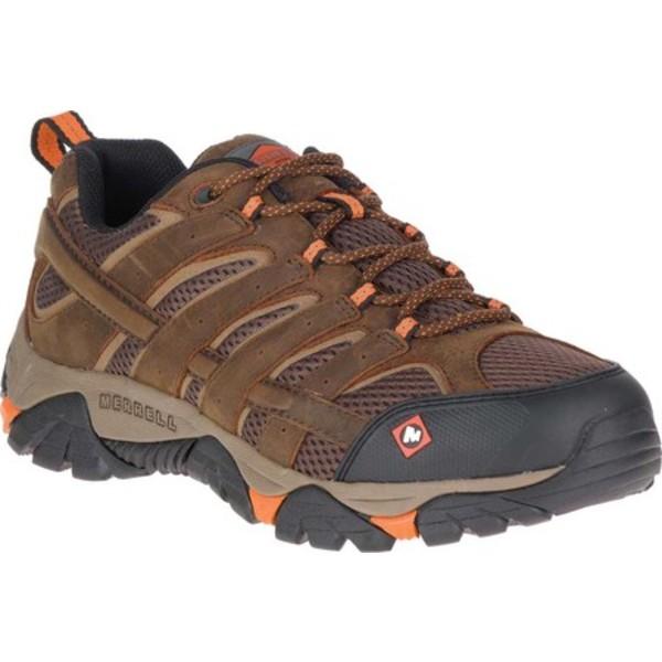 メレル メンズ ブーツ&レインブーツ シューズ Moab Vertex Vent Slip Resistant Work Shoe Clay Waterproof Full Grain Leather/Mesh
