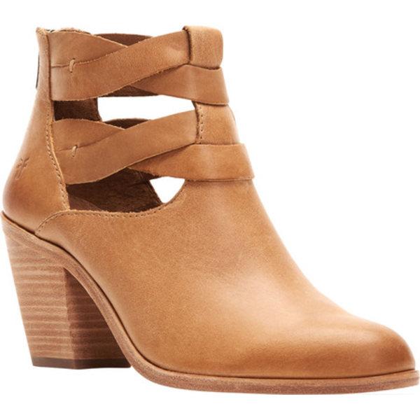 フライ レディース ブーツ&レインブーツ シューズ Cameron Twist Ankle Bootie Tan Polished Soft Full Grain Leather
