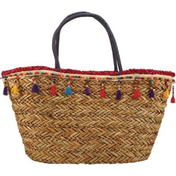 カペリストローワールド レディース トートバッグ バッグ BAG1181 Wrapped Handle and Tassel Tote Bag Fuchsia