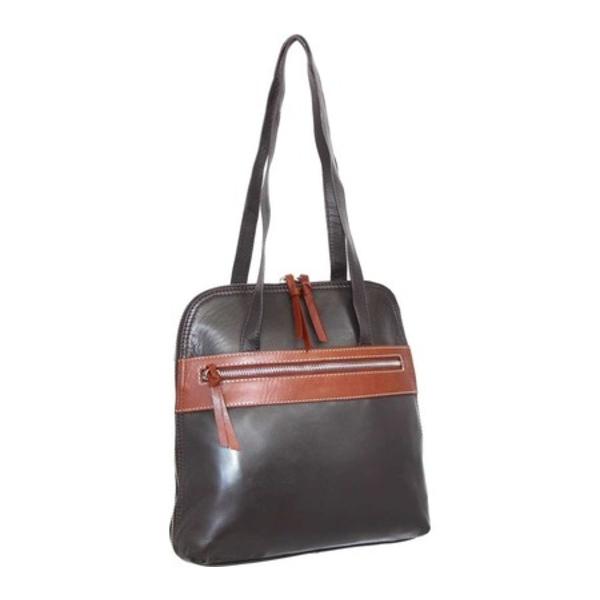 ニノボッシ メンズ ビジネス系 バッグ Carina Leather Convertible Tote Backpack Chocolate