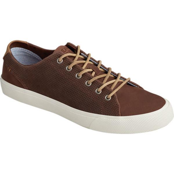 トップサイダー メンズ ブーツ&レインブーツ シューズ Striper PlushWave LTT Sneaker Brown Full Grain Leather