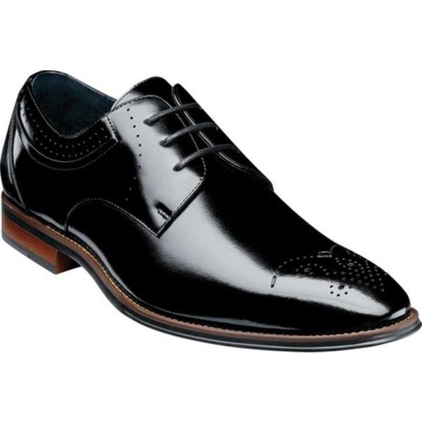 ステイシーアダムス メンズ ドレスシューズ シューズ Batlin Perf Toe Oxford Black Leather