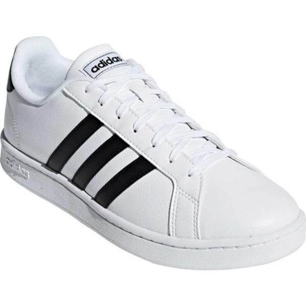 アディダス メンズ スニーカー シューズ Grand Court Sneaker FTWR White/Core Black/FTWR White Leather