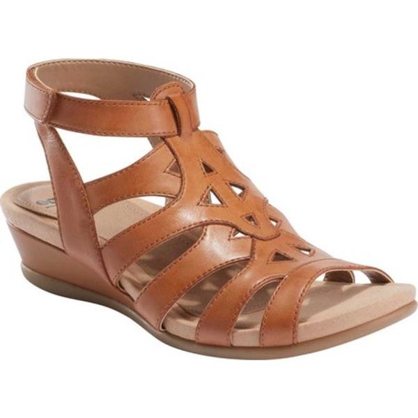 アース レディース オックスフォード シューズ Pisa Chatham Strappy Sandal Sand Brown Pigskin Leather