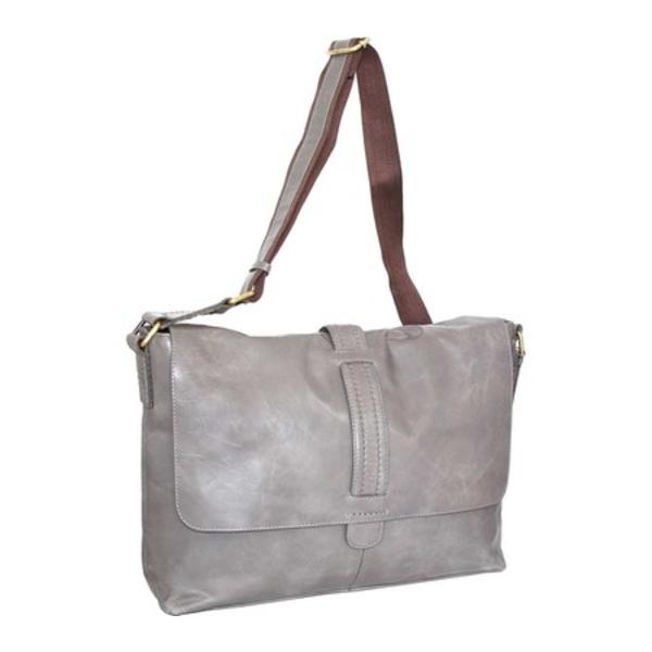 ニノボッシ レディース ショルダーバッグ バッグ Max Leather Messenger Bag Stone