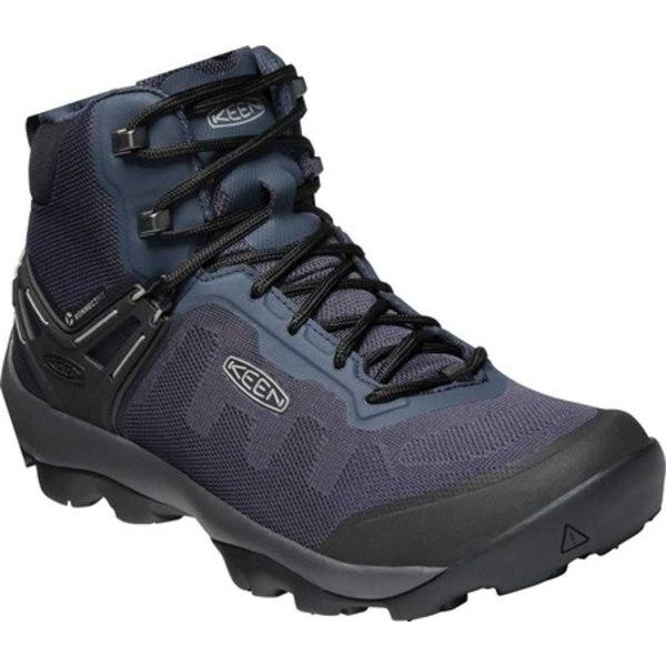 キーン メンズ ブーツ&レインブーツ シューズ Venture Vent Mid Hiking Boot Blue Nights/Drizzle