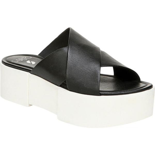 サルトバイフランコサルト レディース サンダル シューズ Dyanna Platform Slide Black Organic Leather