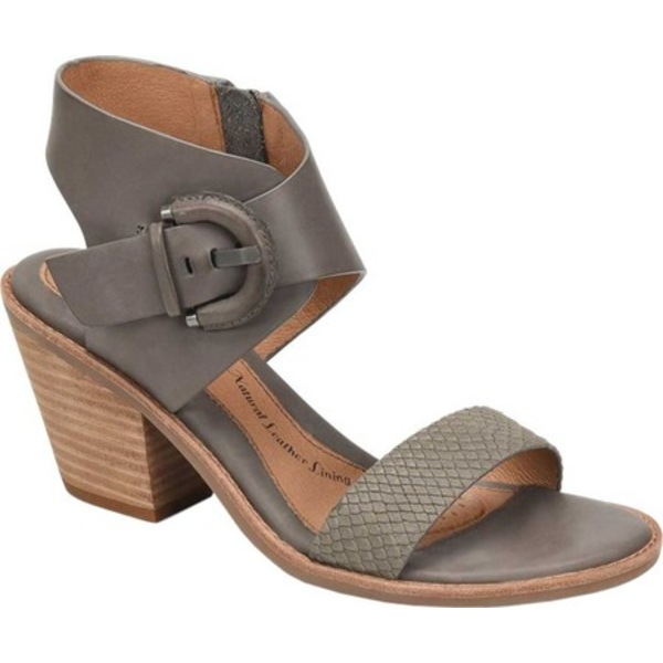 ソフト レディース サンダル シューズ Menaka Heeled Sandal Snare Grey/Snake Print Leather
