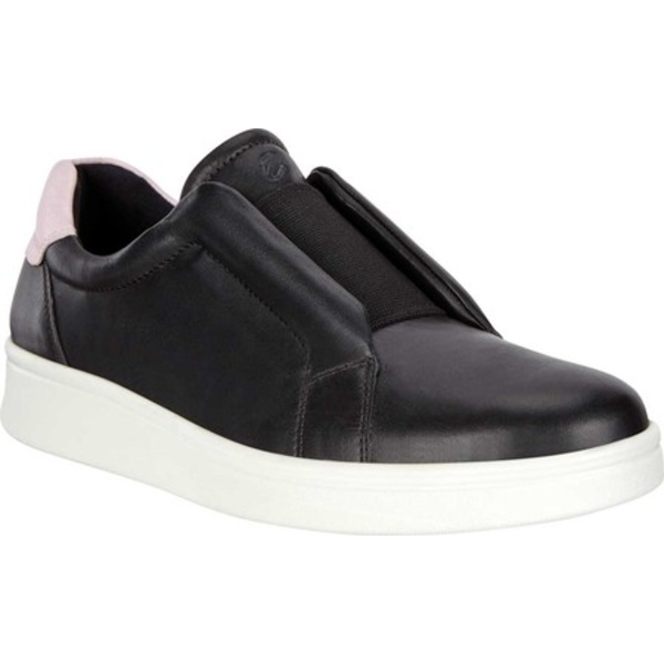 エコー レディース スニーカー シューズ Soft 4 Slip On Sneaker Black/Blossom Rose Full Grain Leather
