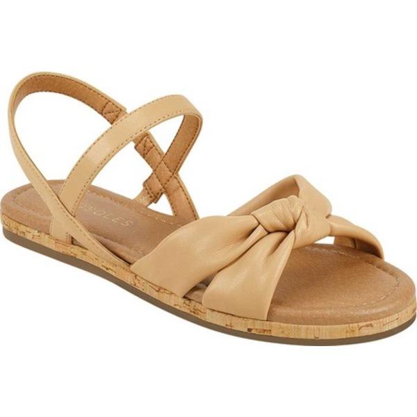 エアロソールズ レディース サンダル シューズ Dover Flat Sandal Nude Faux Leather