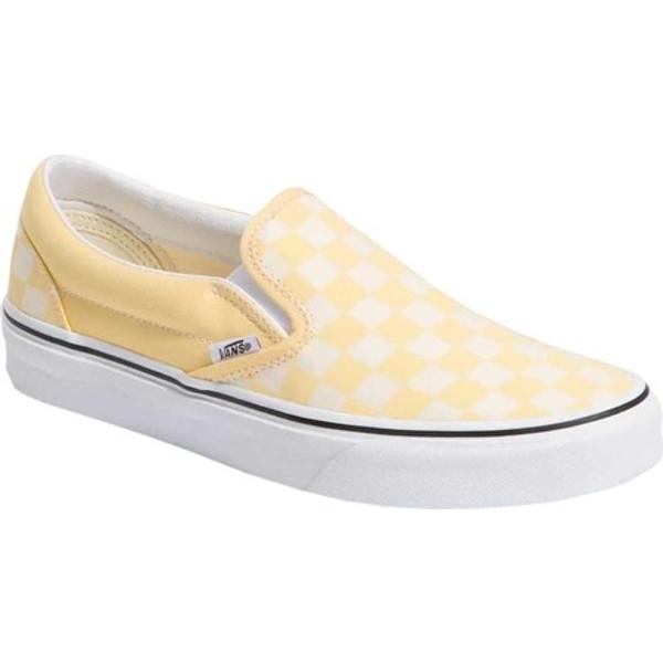 バンズ レディース スリッポン・ローファー シューズ Slip On Checkerboard Canvas Sneaker Golden Haze/True White