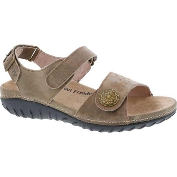 ドリュー レディース サンダル シューズ Workaround Ankle Strap Sandal Stone Leather