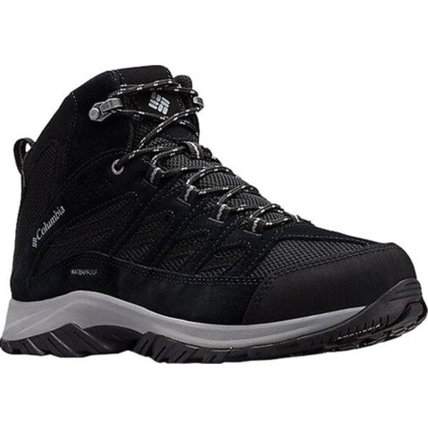 コロンビア メンズ ブーツ&レインブーツ シューズ Crestwood Mid Waterproof Hiker Black/Columbia Grey