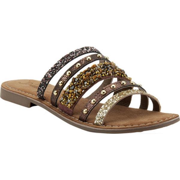 アズーラ レディース サンダル シューズ Minerals Strappy Slide Sandal Brown Multi Leather