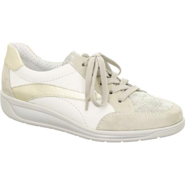 アラ レディース スニーカー シューズ Mia 36350 Sneaker Taupe/Grey/White/Platinum Combo
