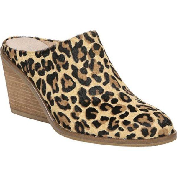ドクターショール レディース サンダル シューズ Maxwell Slip On Mule Black/Tan Leopard Pony Hair Leather
