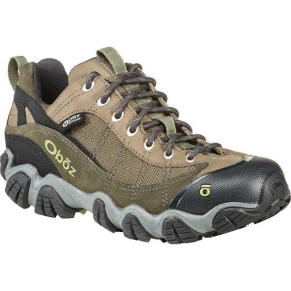 オボズ メンズ ブーツ&レインブーツ シューズ Firebrand II BDry Hiking Shoe Olive Waterproof Nubuck/Abrasion-Resistant Textile