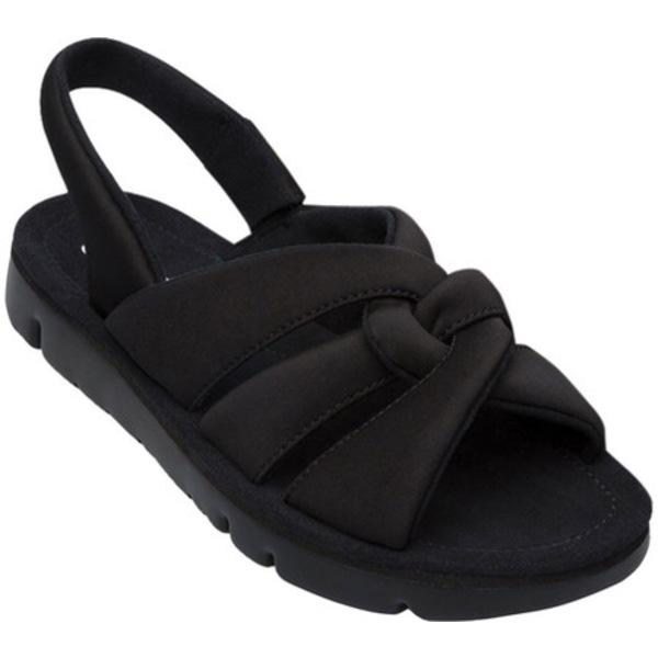 カンペール レディース サンダル シューズ Oruga Slingback Sandal Black Technical Fabric