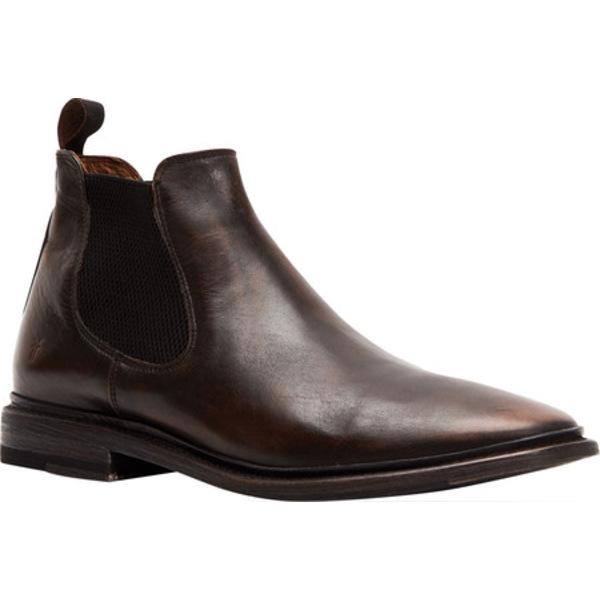 フライ メンズ ブーツ&レインブーツ シューズ Paul Chelsea Boot Black Brush Off Full Grain Leather